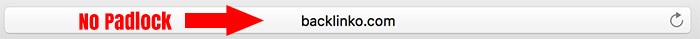 Backlinko Web Design Fail - No SSL