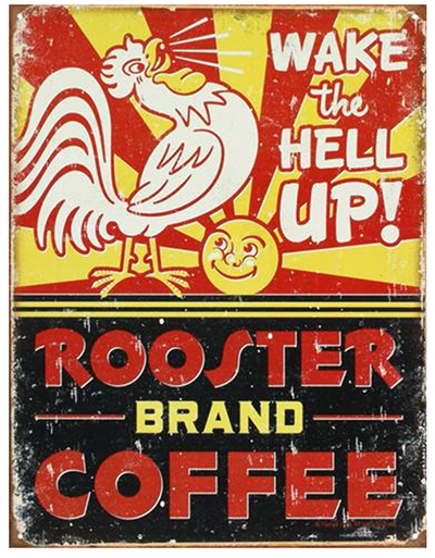 Rooster Brand Coffee Tin Poster - Father's Day Gift Ideas